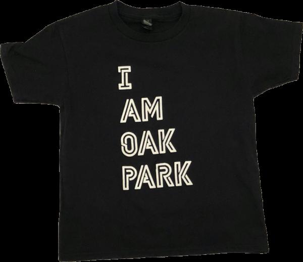 "Black T-shirt that says ""I am Oak Park."""
